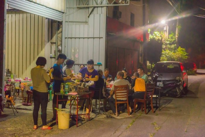 BBQ party in Mid autumn festival